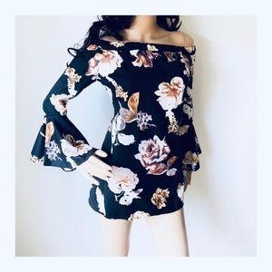 Tops - * * * NEW * * * Floral off shoulder blouse